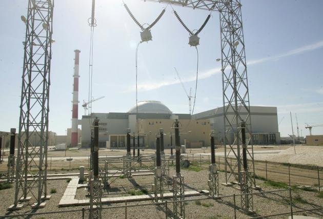 Une photo d'archives du réacteur de la centrale nucléaire de Bouchehr dans le sud de l'Iran, le 26 février 2006  [Behrouz MEHRI / AFP/Archives]