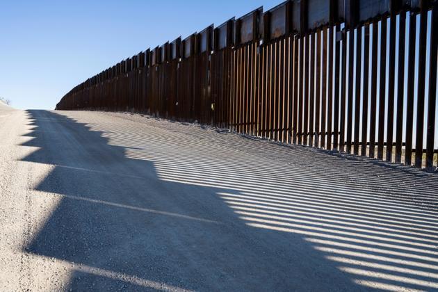 Une portion de la frontière entre le Mexique et les Etats-Unis, au Nouveau-Mexique le 23 décembre 2018 [Paul Ratje / AFP/Archives]