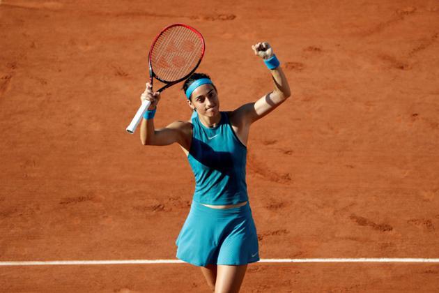 La Française Caroline Garcia qualifiée pour les 8e de finale de Roland-Garros le 2 juin 2018 [Thomas SAMSON / AFP]