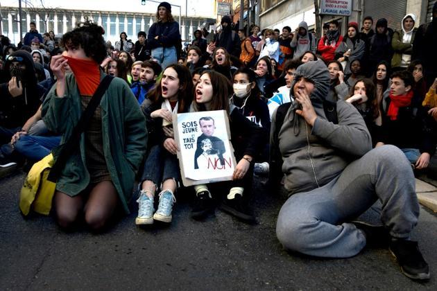 Manifestation de lycéens à Marseille, le 4 décembre 2018 [GERARD JULIEN / AFP]