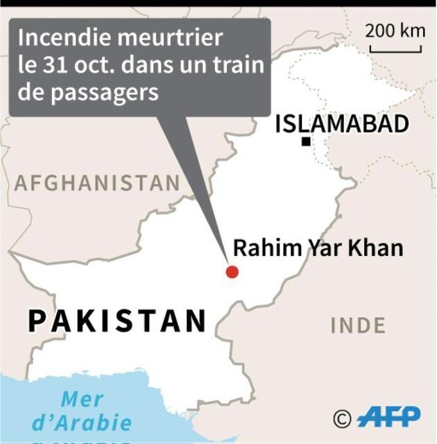 Pakistan : incendie meurtrier dans un train [Jonathan WALTER / AFP]