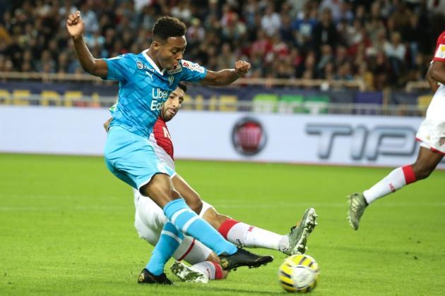 Le milieu de l'OM Marley Aké lors du match  contre Monaco en Coupe de la Ligue au stade Louis II, le 30 octobre 2019  [VALERY HACHE / AFP]