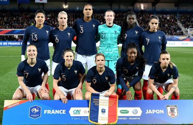 L'équipe de France féminine de football avant son match amical contre le Japon, le 4 avril 2019 à Auxerre  [FRANCK FIFE / AFP/Archives]