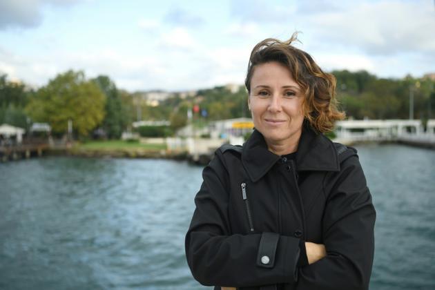 Pinar Ayikcan Tuna, agente immobilière à Istanbul spécialisée dans les biens de luxe, le 28 septembre 2018 [OZAN KOSE / AFP]
