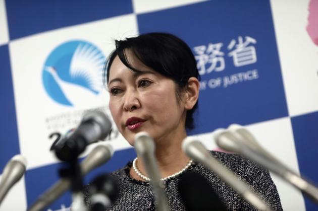 Masako Mori, ministre japonaise de la Justice, lors d'une conférence de presse à Tokyo, le 9 janvier 2020 [Behrouz MEHRI / AFP]