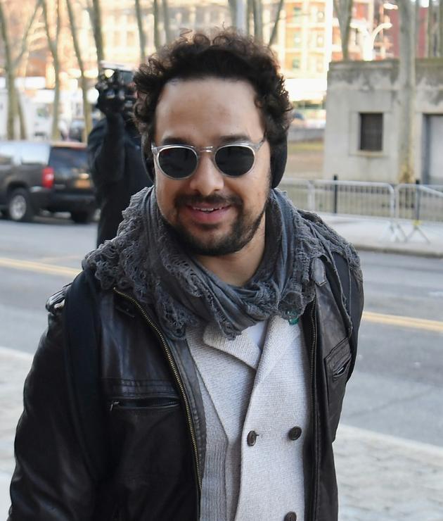 """L'acteur mexicain Alejandro Edda, qui a incarné le rôle de """"El Chapo"""" dans une série, lors de son arrivée au tribunal de Brooklyn, le 30 janvier 2019 à New York [Angela Weiss / AFP/Archives]"""
