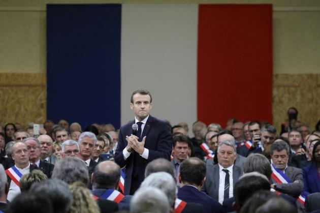 Emmanuel Macron à Souillac, vendredi 18 janvier 2019 [Ludovic MARIN / POOL/AFP]