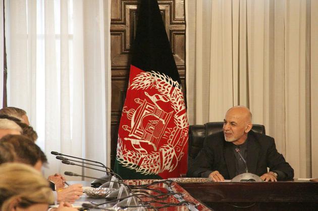 Le président afghan Ashraf Ghani avait annoncé un cessez-le-feu unilatéral pour la fin du Ramadan. Le 13 mars 2018 à Kaboul. [Thomas WATKINS / AFP]