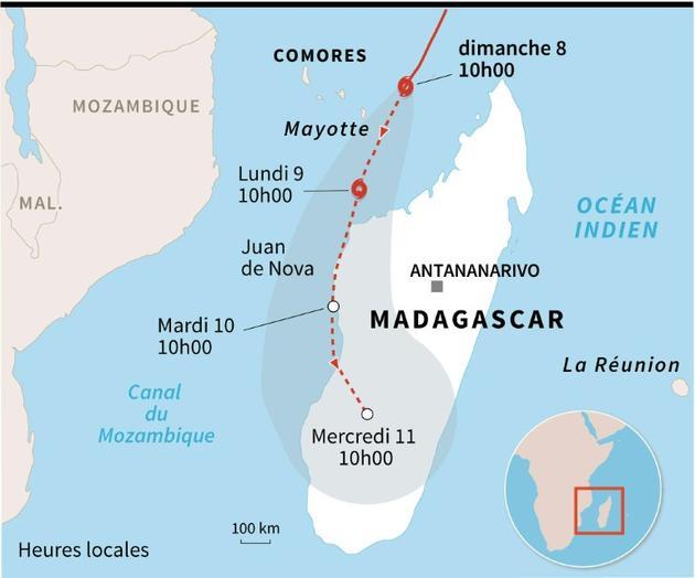 Cyclone Belna à Mayotte [Laurence SAUBADU / AFP]