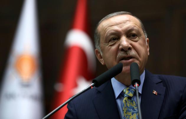 Le président turc Recep Tayyip Erdogan, le 16 octobre 2018 à Ankara [ADEM ALTAN / AFP/Archives]