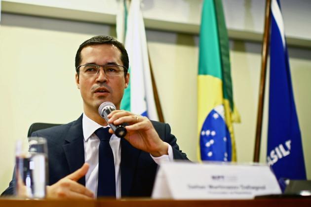 Deltan Dallagnol, procureur en charge de l'enquête Lava Jato, le 7 décembre 2017 à Curitiba (Brésil) [Heuler Andrey / AFP/Archives]