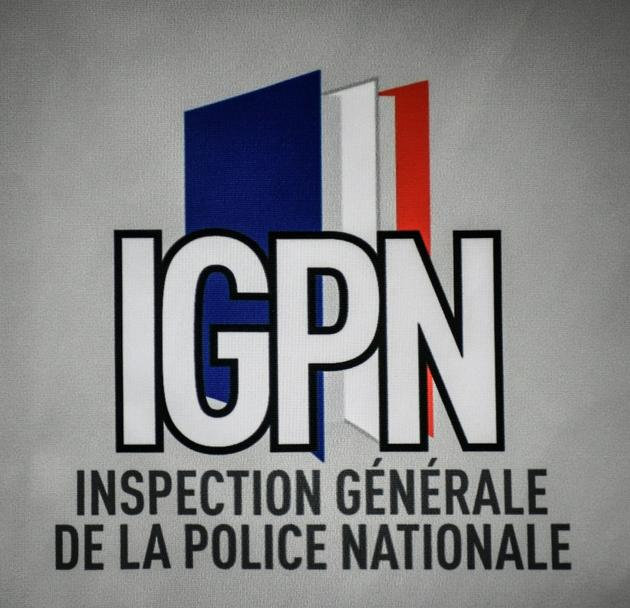 Le logo de l'Inspection Générale de la Police Nationale le 13 juin 2019 [STEPHANE DE SAKUTIN / AFP/Archives]