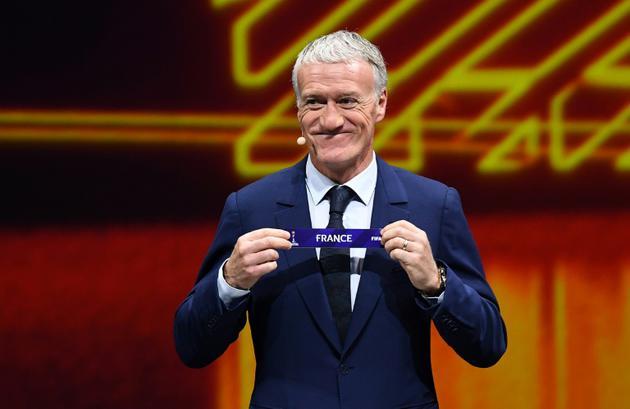 Le sélectionneur des Bleus Didier Deschamps lors du tirage au sort du Mondial 2019 féminin le 8 décembre 2018 [ANNE-CHRISTINE POUJOULAT / AFP]