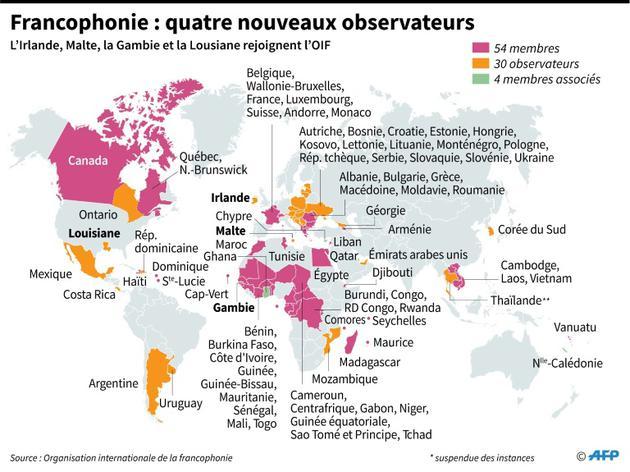 Francophonie : quatre nouveaux observateurs [Sophie RAMIS, Vincent LEFAI / AFP]