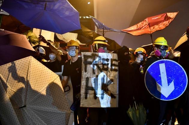 Manifestation anti-Pékin, le 21 juillet 2019 à Hong Kong [Anthony WALLACE / AFP]
