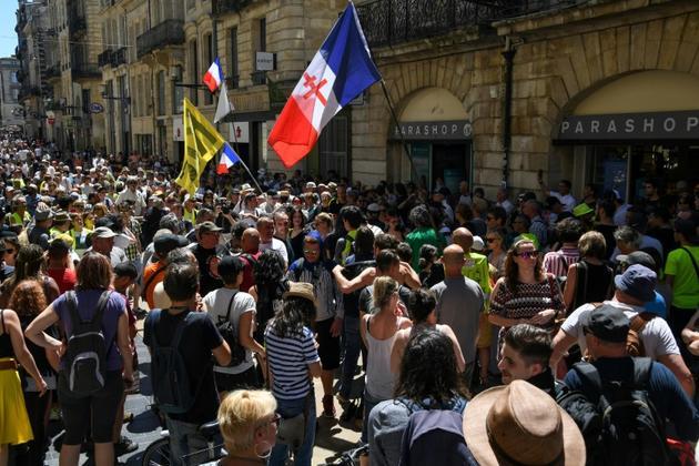 """Rassemblement de """"gilets jaunes"""", le 1er juin 2019 à Bordeaux  [MEHDI FEDOUACH / AFP]"""