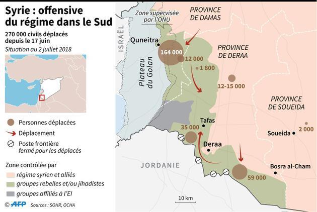 Syrie : offensive du régime dans le sud [Omar KAMAL / AFP]