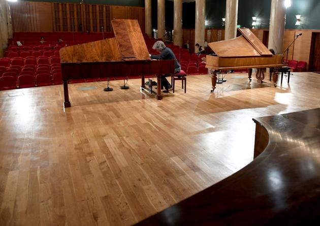 La scène du concours Chopin sur pianos d'époque, le 4 septembre 2018 à Varsovie [JANEK SKARZYNSKI / AFP/Archives]