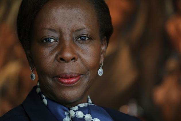 Louise Mushikiwabo, ministre rwandaise des Affaires étrangères, le 25 septembre 2018, à New York [Ludovic MARIN / AFP/Archives]