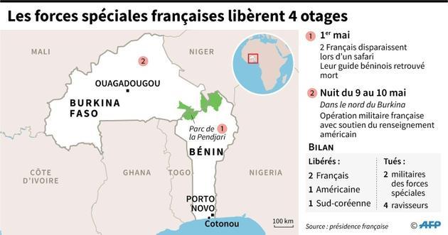 L'armée française libère 4 otages [ / AFP]