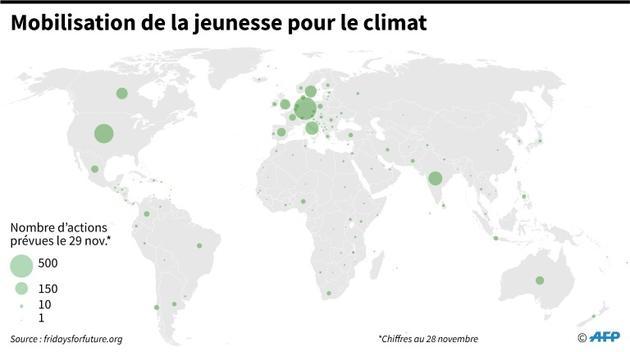 Mobilisation de la jeunesse pour le climat [Sophie RAMIS / AFP]