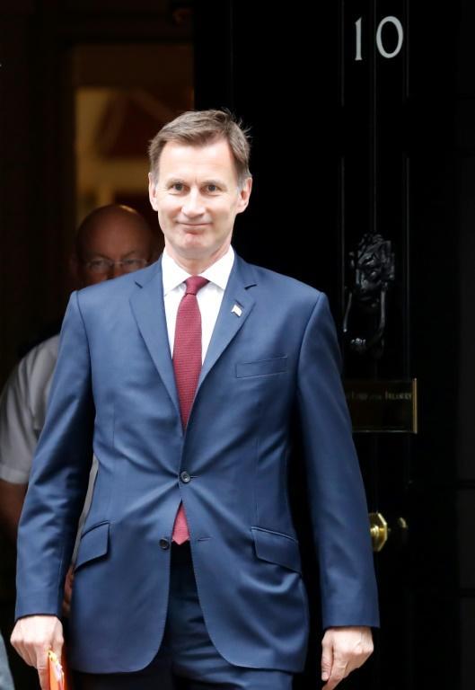 Le ministre britannique des Affaires étrangères Jeremy Hunt le 25 juin 2019 à Londres [Tolga AKMEN / AFP]