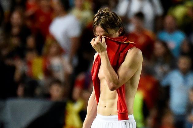 Le milieu de terrain de la Croatie Luka Modric lors de la défaite face à l'Espagne 6-0 en 2e journée de Ligue des nations le 11 septembre 2018 [JOSE JORDAN / AFP]