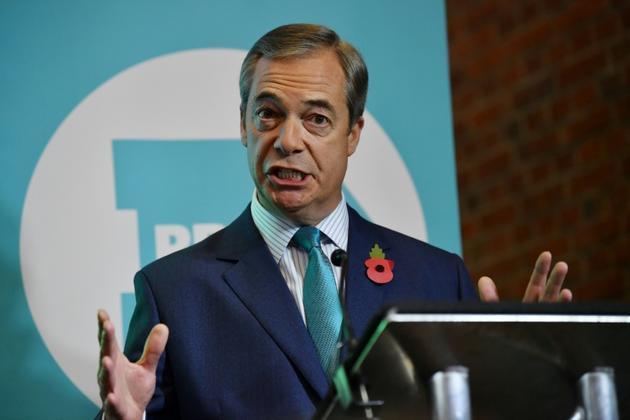 Le dirigeant du parti du Brexit, Nigel Farage, le 2 novembre 2019 à Londres [Ben STANSALL / AFP]