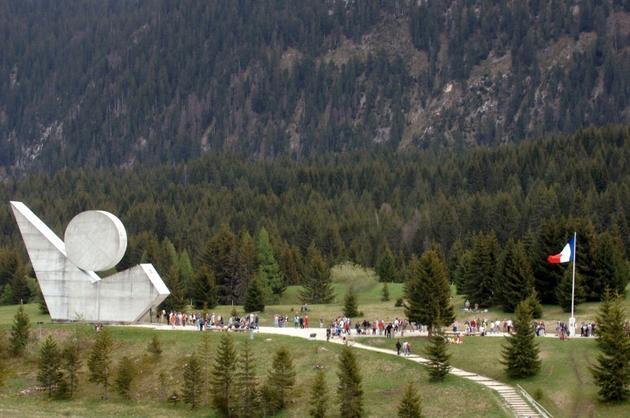 Le monument de la résistance sur le Plateau des Glières en mai 2017 [JEAN-PIERRE CLATOT / AFP/Archives]
