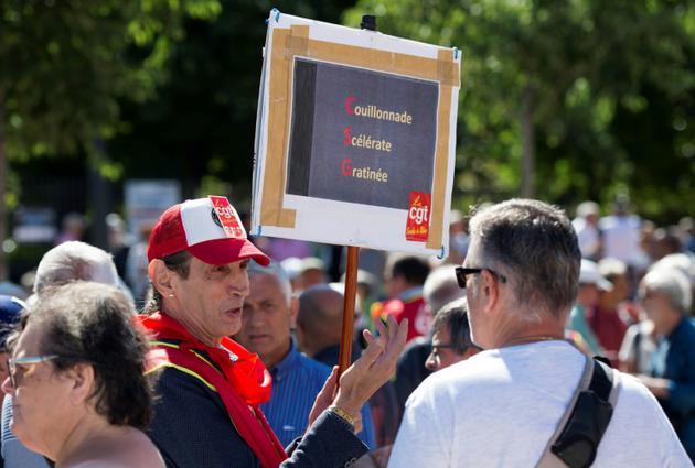Manifestation contre la hausse de la Contribution Sociale Généralisée (CSG) à Marseille, le 14 juin 2018 [BERTRAND LANGLOIS / AFP/Archives]