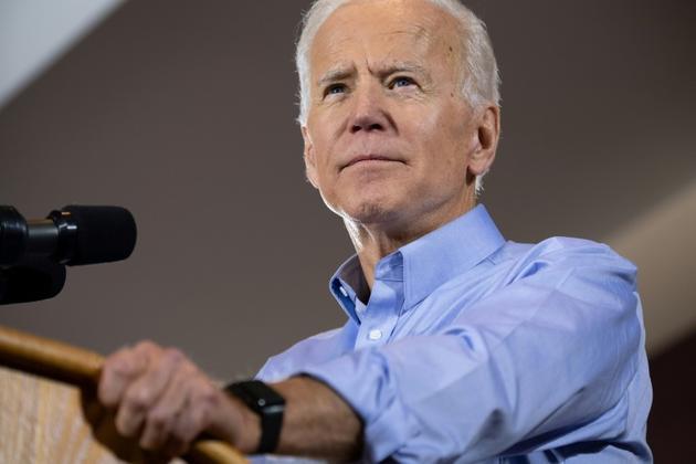 L'ancien vice-président démocrate Joe Biden s'exprime depuis Pittsburgh, en Pennsylvanie, lors du lancement de sa campagne  [SAUL LOEB / AFP/Archives]