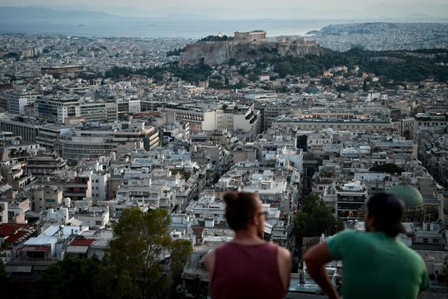 Vue depuis une colline d'Athènes, le 8 août 2018 [Louisa GOULIAMAKI / AFP/Archives]