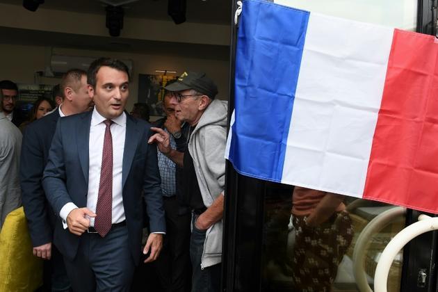 Le président des Patriotes, ancien bras droit de Marine Le Pen, Florian Philippot, à Forbach le 2 septembre 2018 [FREDERICK FLORIN / AFP/Archives]