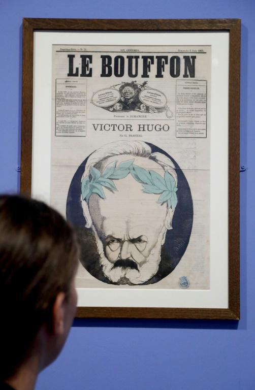 """Exposition """"Caricatures, Hugo à la une"""" dans la maison de Victor Hugo à Paris, le 12 septembre 2018 [FRANCOIS GUILLOT / AFP]"""