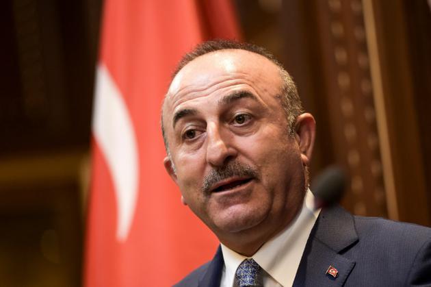 Le ministre des Affaires Etrangères turc Mevlüt Cavusoglu, à Pristina, le 19 octobre 2018 [Armend NIMANI / AFP/Archives]