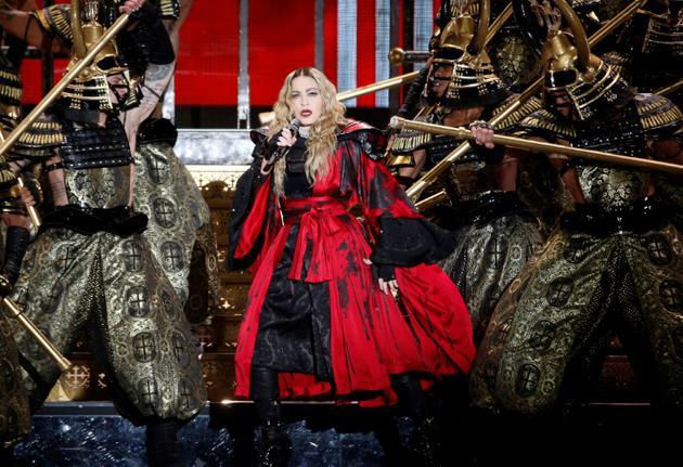 La chanteuse Madonna en concert à l'AccorHotels Arena, le 9 décembre 2015 à Paris [FRANCOIS GUILLOT / AFP/Archives]