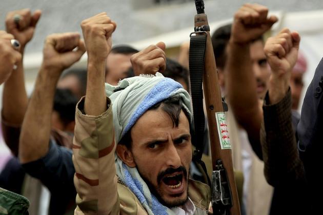Des Yéménites manifestent contre la suspension d'une aide humanitaire devant le bureau de l'ONU à Sanaa le 19 juin 2019  [MOHAMMED HUWAIS / AFP/Archives]