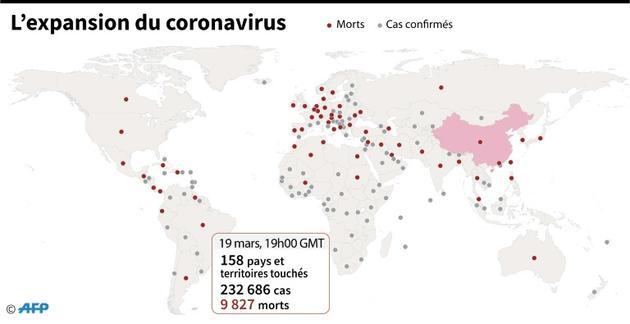 L'expansion du coronavirus [ / AFP]