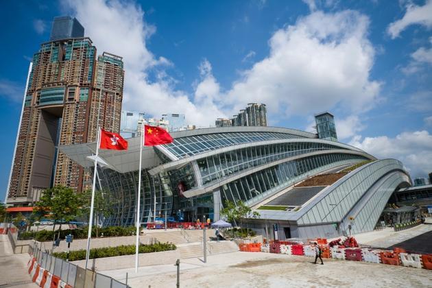 La gare de West Kowloon d'où partent les trains à grande vitesse pour la Chine continentale, le 10 septembre 2018 à Hong Kong [ANTHONY WALLACE / AFP/Archives]