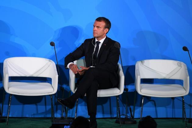 Emmanuel Macron à l'ONU le 23 septembre 2019 [TIMOTHY A. CLARY / AFP]