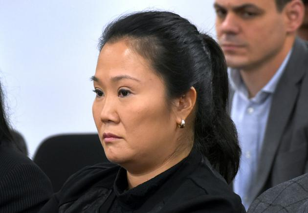 Keiko Fujimori, la leader de l'opposition au Pérou, lors de l'audience au terme de laquelle elle est envoyée pour trois ans de prison préventive, le 31 octobre 2018 à Lima. [HO / Peruvian Judiciary/AFP]