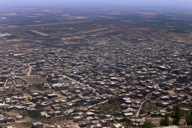 Vue générale de la ville de Qouneitra, dans le sud-ouest de la Syrie, le 19 juillet 2018, après sa reconquête après le régime aux dépends des rebelles [Youssef KARWASHAN / AFP]