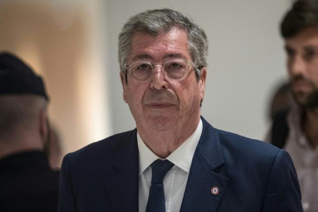 Le maire LR de Levallois-Perret Patrick Balkany quitte le tribunal, le 13 mai 2019 à Paris [STRINGER / AFP/Archives]