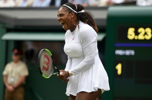 Serena Williams, le 4 juillet, à Wimbledon [Oli SCARFF                           / AFP]