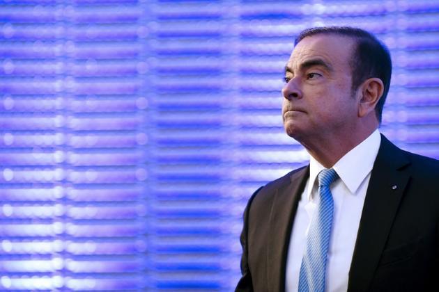 Carlos Ghosn à Paris, le 6 octobre 2017 [ERIC PIERMONT / AFP/Archives]