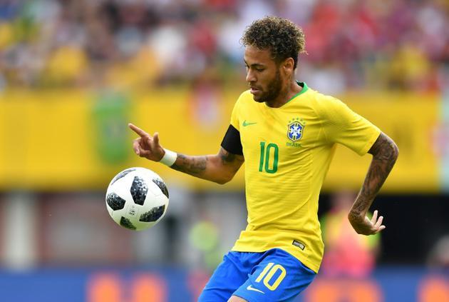 La star du Brésil Neymar contre l'Autriche en amical, le 10 juin 2018 à Vienne [JOE KLAMAR / AFP]