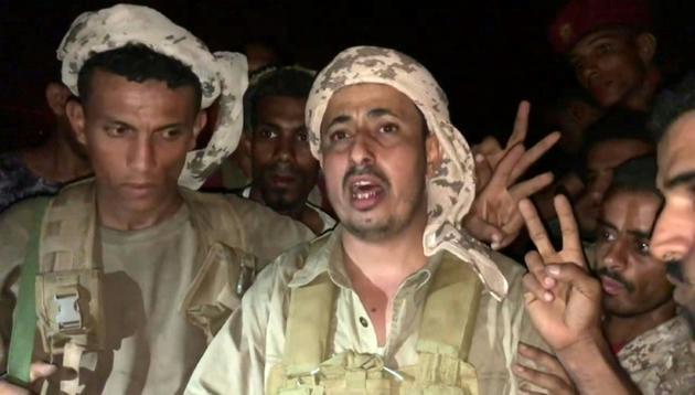 Capture d'écran d'une vidéo de l'AFP montrant Mokhtar al-Noubi, un des chefs des forces séparatistes ayant pris le contrôle du palais présidentiel à Aden (Yémen), le 10 août 2019 [- / AFP]