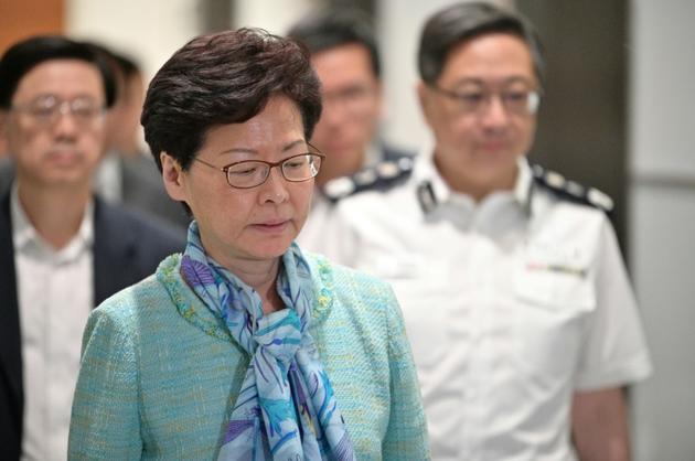 Carrie Lam, la cheffe du gouvernement de Hong Kong, le 2 juillet 2019 [Anthony WALLACE / AFP/Archives]