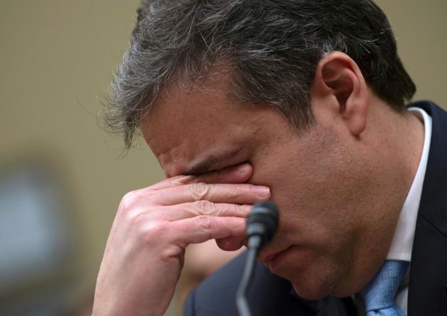 L'ex-avocat personnel de Donald Trump, Michael Cohen, devant la commission d'enquête du Congrès, le 27 février 2019 à Washington [Andrew CABALLERO-REYNOLDS / AFP]