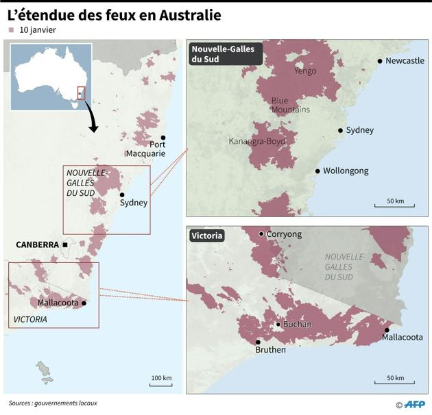 L'étendue des feux en Australie [John SAEKI / AFP/Archives]
